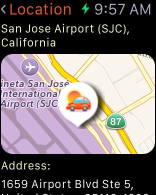 Get details, including a map, of any car rental depot