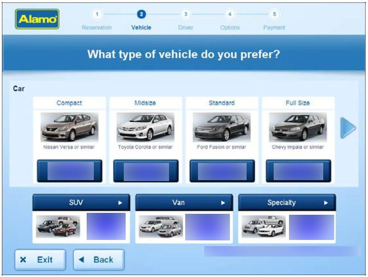 Choose your Car Hire vehicle
