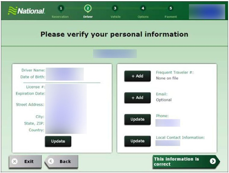 Verify Personal Information